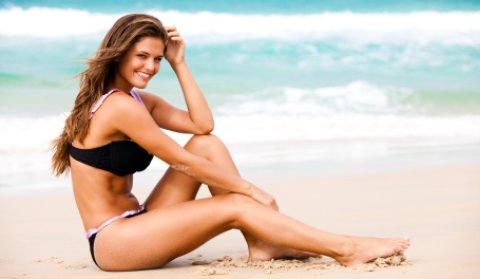 Playalinda Beach Florida girl on beach
