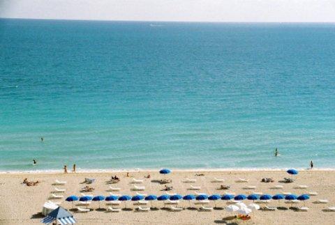 miami florida beach scene