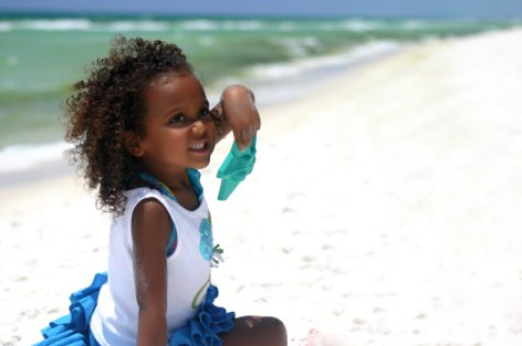 Beautiful little girl on American Beach Florida