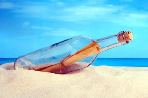Atlantic Beach Florida message in bottle