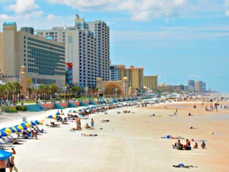 Daytona Beach Florida beach scene