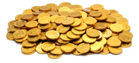 Gold coins on the Treasure Coast