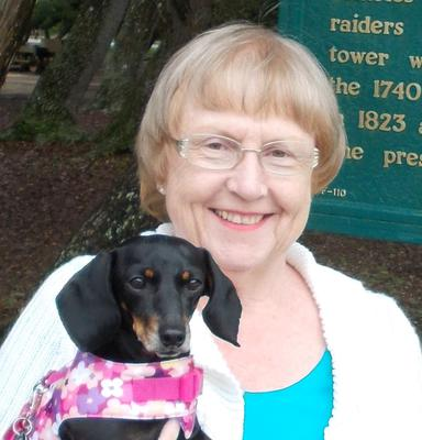 Dixie Mae Doxie and Momma Jaye at Lighthouse State Park St. Augustine Florida