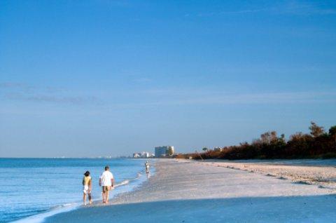 naples beach scene