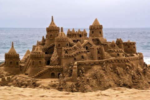 Beautiful sandcastle on Satellite Beach