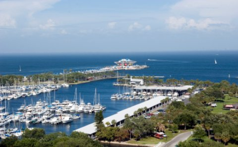 St Pete Florida harbor scene