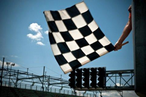 Ormond Beach Florida Racing flag